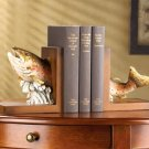 FISH WOOD BOOKENDS - MM35132