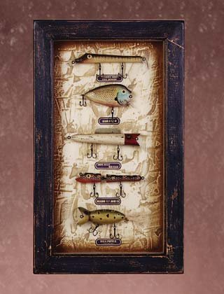 WOOD FISHING LURES SHADOW BOX - MM33937