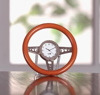 Racy Steering Wheel Desk Clock - MM33105