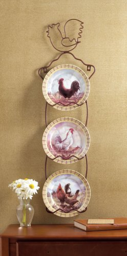 Rooster Decorator's Plates  - MM31185