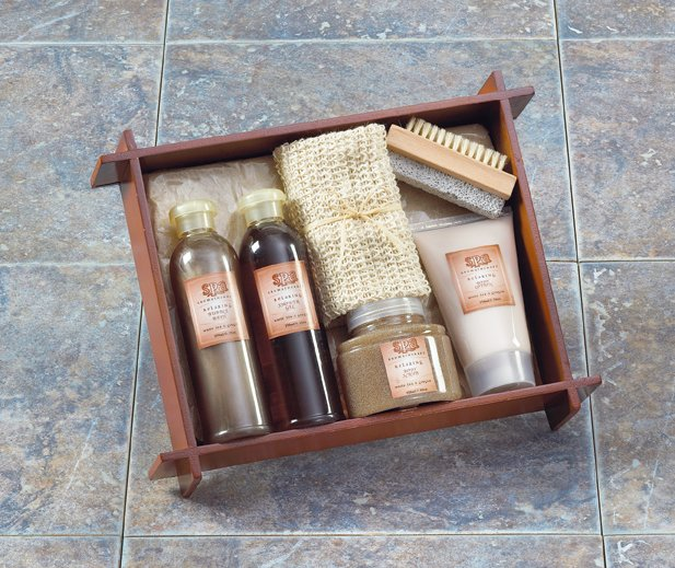 Tea & Ginger Bath - Wood Tray - MM36398