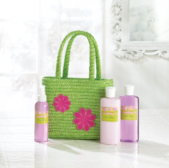 Bath Set In Green Tote Bag - MM36376