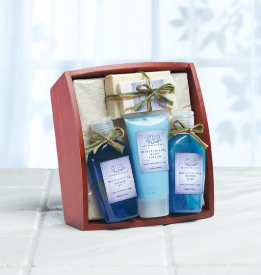 Sage Bath Set On Trayavendar - MM36397
