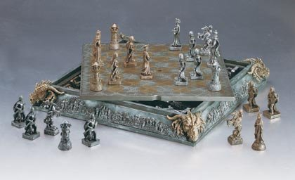 MEDIEVAL DRAGON CHESS SET W/ CASE GOTHIC DRAGONS - MM35301