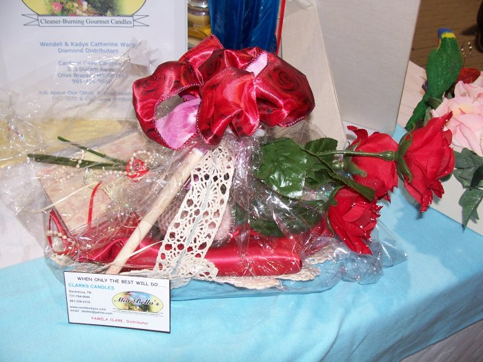 Red Silk Rose Gift Basket - GSrsb
