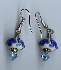 Blue & White Wedgewood Earrings- EAww