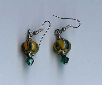 Green & Gold Earrings- EAgg