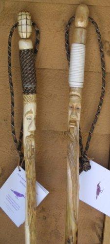 Custom Hand Carved Hiking Staffs - OCcc
