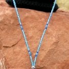 Blue Glow Bead Necklace - EAbgn