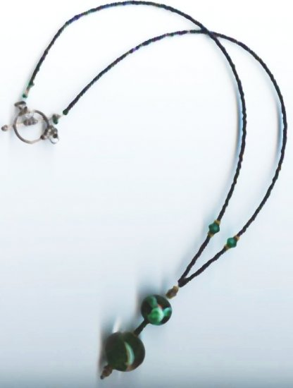 Sea Green Bead Necklace - EAsgn