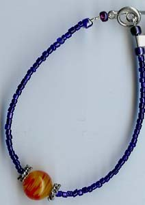 Orange Glow Bead Bracelet - EAogb