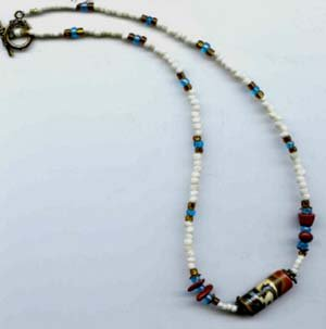 Katchina Bead Necklace - EAkbn