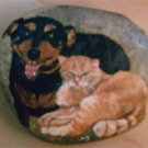 Pet Portrait River Rock (Large - 2 Pets) - PRrrl