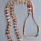 Navajo Pink Coral Necklace- EAnc