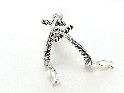 Silver Cross Earrings - BBsc