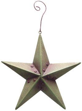 Green Barn Star Ornament - 3/set - CWG103356