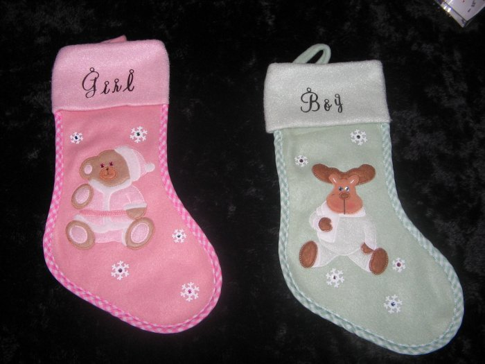 Baby's 1st Christmas Stocking - JGb1
