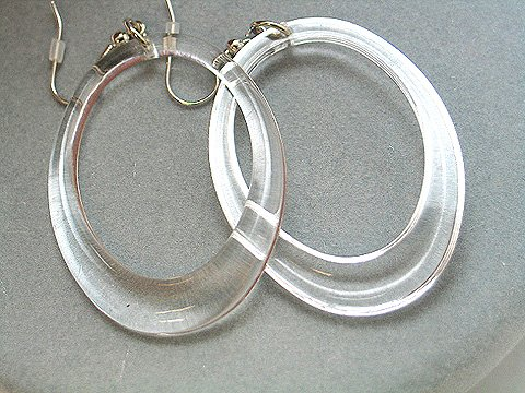 Crystal Clear Ice Bead Hoops - BBic