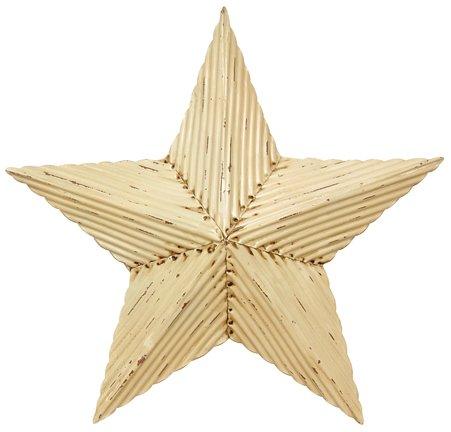 "Corrugated Barn Star - Antique White - 21 1/2""- CWGJHE5436A"