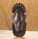 EBONY MASK WALL PLAQUE - MM33295