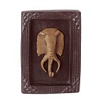 FRAMED ELEPHANT MASK PLAQUE - MM35357