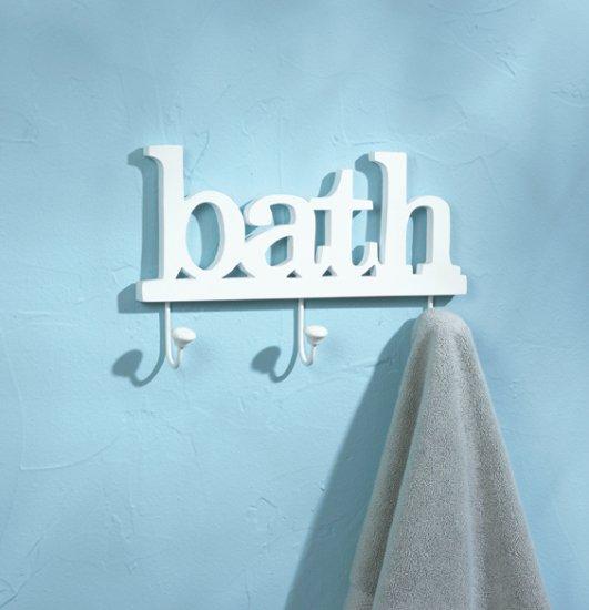 36667 Bath Clothes Hook Wall Plaque - MM36667