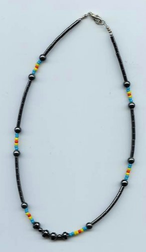 Hematite Multi-Color Bead Necklace - EAhm