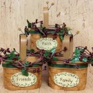 Faith, Family, Friends Resin Baskets - 3/Set - CWIG29493