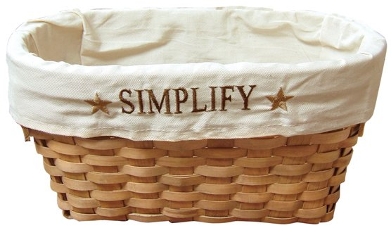 Fabric Lined Simplify Basket - CWIGJHE5245C