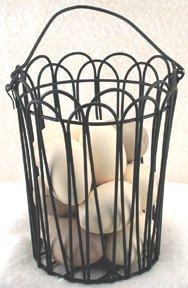 Wire Egg Basket with Eggs - CWIGCG3130