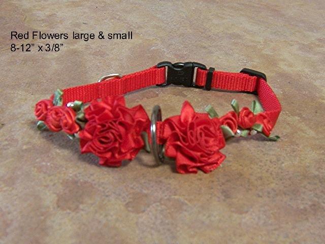 Red Flowers Collar- BTrf