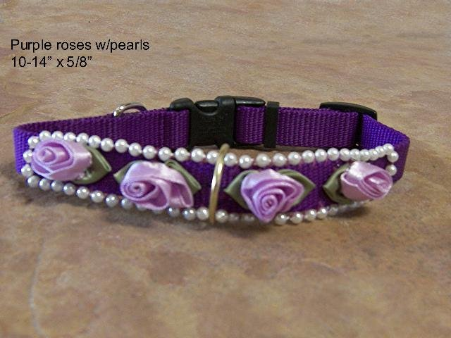 Pearl and Purple Rose Collar - BTppr