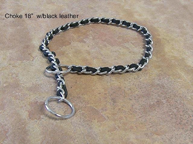 Black Leather Choke Collar - BTblc