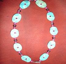 SALE! Turquoise & Pink Pearl Necklace - CGtp
