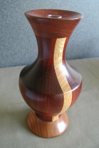 Bubinga/Oak  Wood Vase - WAbo