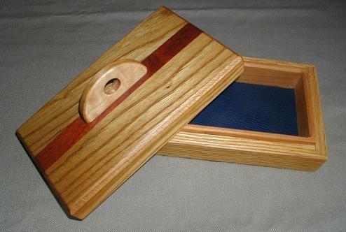 Oak/Bubinga Keepsake Box - WAob