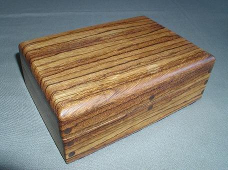 Zebra/Walnut Keepsake Box - WAzw