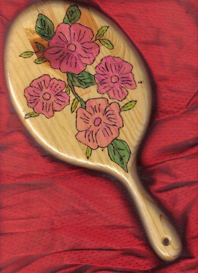 Pink Floral Wood Mirror - JWpf