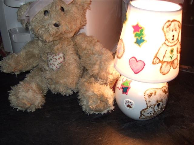 "Handcrafted Boyd's Bear - Small Lamp 8"" - 4Ubb"