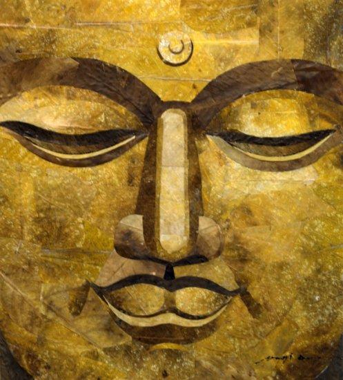 Buddah Leaf Painting - MEbu