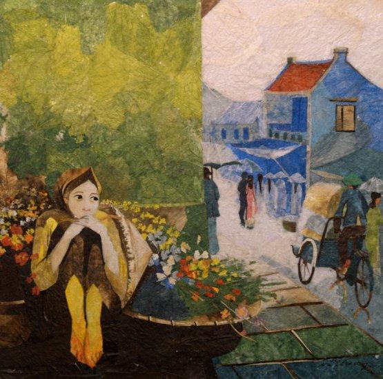 Flower Girl Leaf Painting - MEfg