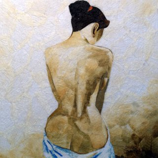 Nude Woman Leaf Painting - MEnw