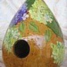 Purple Hydrangea Gourd Birdhouse - PJph