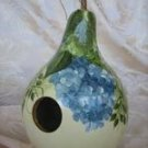 Blue/Green Hydrangea Gourd Birdhouse - PJbg