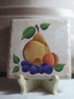 Pear and Grapes Tile - Large - PJpgx