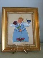 Handpainted Angel on Canvas - PJba