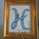 Handpainted Initial on Canvas - PJhi
