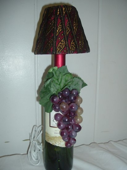 Zinfandel Wine Bottle Lamp - PCwb