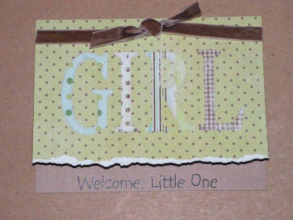 Baby Girl Greeting Card - CCbg
