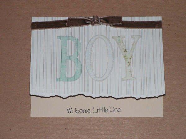 Baby Boy Greeting Card - CCbb